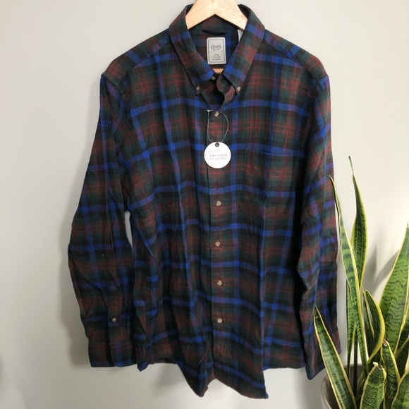 d59034b6db01 Chaps Shirts | Long Sleeve Button Down Flannel Shirt Plaid | Poshmark